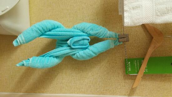 Hampton Inn Suites Springboro: towel animal