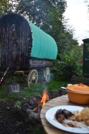 Hoarwithy, UK: Dinner by the fire!