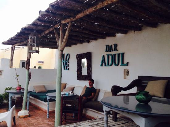Dar Adul : Intérieur , vue de la terasse