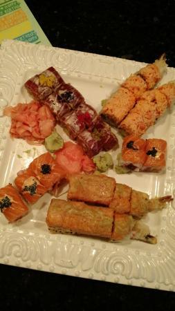 Kon Asian Bistro: Kon Special Roll - Atlantic.  Amazing. Tiger. Amazing.  Crazy Tuna.  Amazing. Black and Orange.