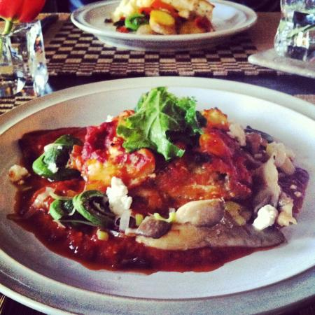 The Pearl Eatery: Eggplant and Oyster Mushroom Lasagna
