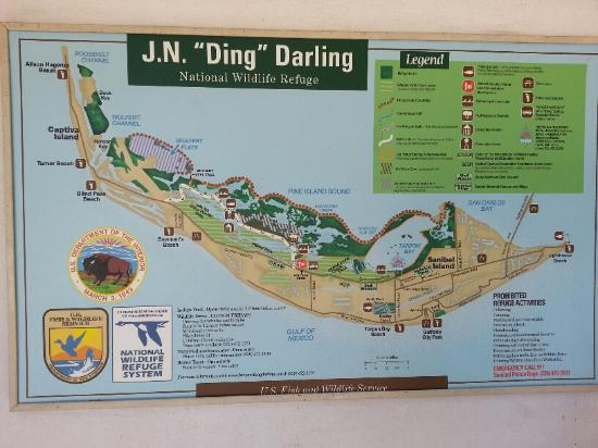 Map of entire wildlife refuge - Picture of J.N.