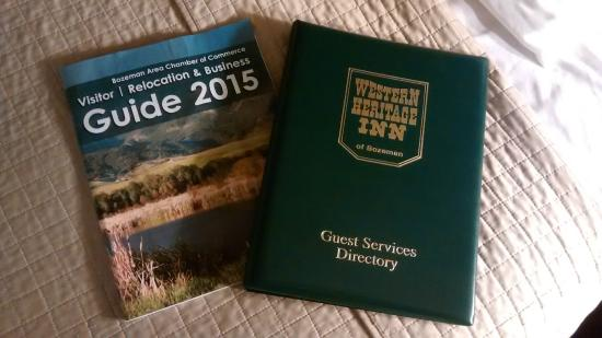Western Heritage Inn : In-room Guest Services Directory and 2015 visitors guide