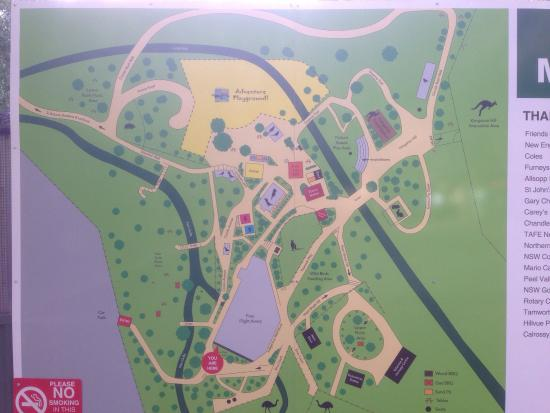 Map Picture of Tamworth Marsupial Park Tamworth TripAdvisor