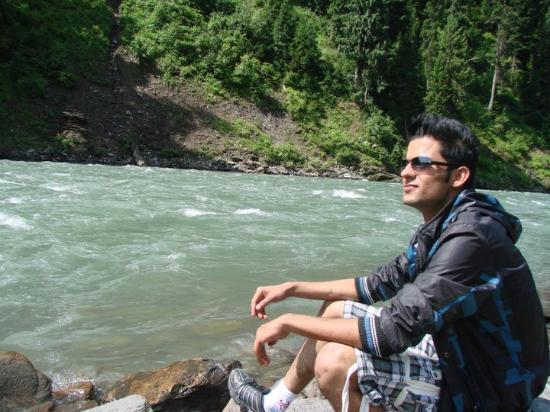 Neelum Valley River: Near river Neelum valy at AJK