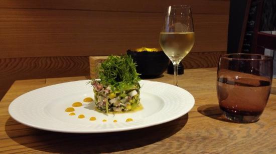 La Table Du 20 : Poulpes marinés avec mangue fenouil...