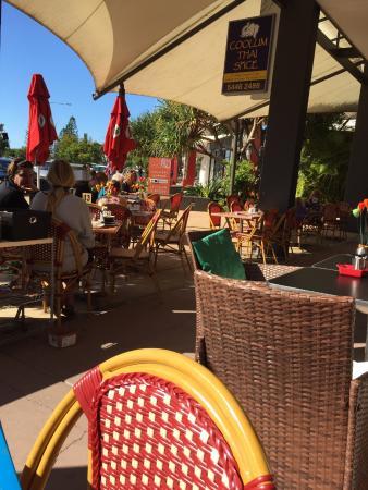 Coolum Beach, Австралия: outdoor dining