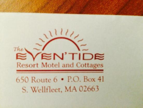 Even'tide Resort Motel and Cottages: Best little Motel on a Cape..well, not that little.