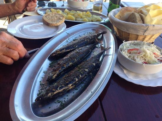 Povlja, Hırvatistan: Skuša cooked to perfection