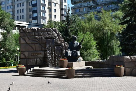 ‪Monument to Zhambyl Zhabayev‬