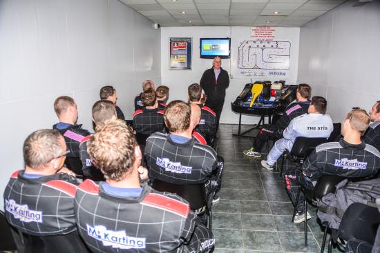 Mr Karting: All Drivers have a safety briefing, to ensure they know what the rules are, and operation of kar