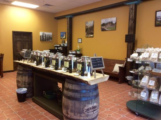 Town Square Olive Oil & Balsamic Vinegar: Town Square Olive Oil is a tasting gallery with over 60 flavors of olive oil, balsamic vinegars
