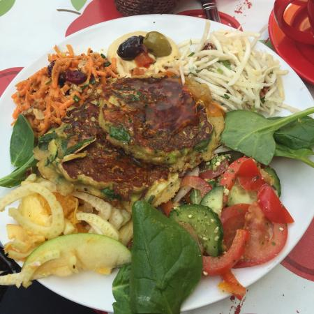 Buttercup cafe: Courgette fritters
