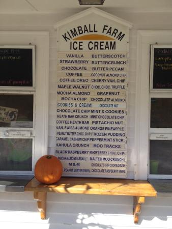 Carlisle, MA: Many Ice Cream Flavors