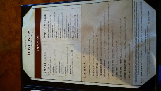 Tabernash, CO: Menu