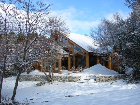 Villa Pehuenia, Argentina: el complejo en invierno