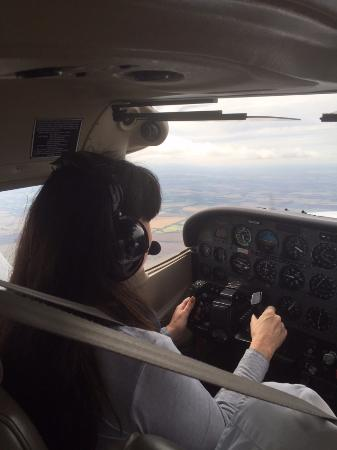 taking control of a plane on your first lesson is just amazing