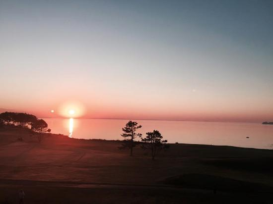 Rockport, ME: View from my room as the sun rises over the bay