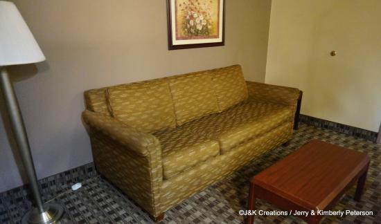 Ramada Canton/Hall of Fame: Couch Area