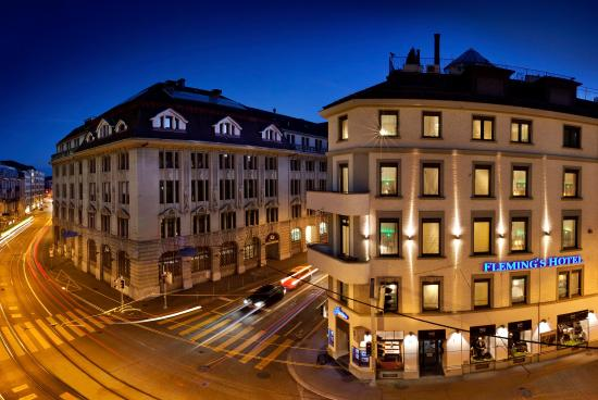 Fleming's Hotel Zürich: Exterior Night at Fleming's Hotel Zurich