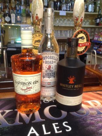 Langton Matravers, UK: New gins at the kings arms Langton