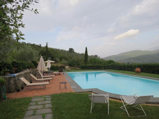 Castiglion Fiorentino, Itália: Another view of the pool (quite warm once you are in)