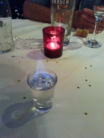 Deanshanger, UK: finished the night with flaming sambuca's