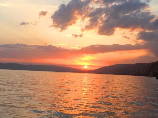 Lake Sevan, Armênia: закат