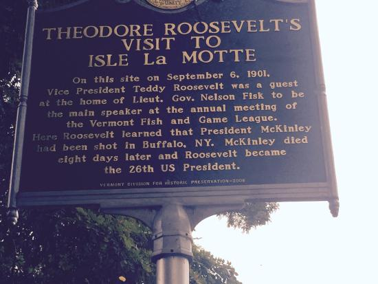 Isle La Motte, VT: Historical marker