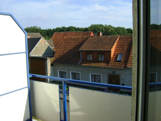 Kuhfelde, Tyskland: Blick vom Balkon