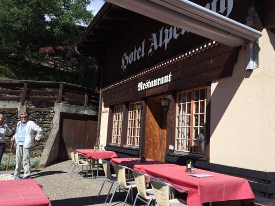 Hotel Alpenruh Restaurant: Stunning view!