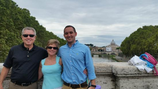 Kiron's Roman Holiday Day Tours: St Peter's in the background.