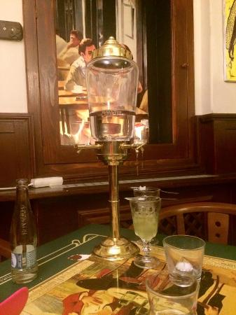 Absinthe Time: Absinthe with sugar and water... this is what you do when you want to 'sip'.