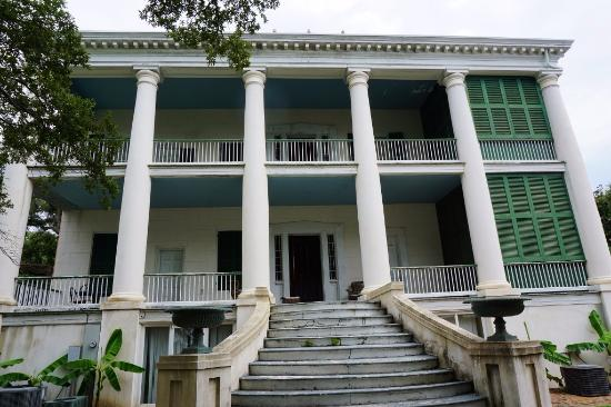 Natchez, MS: The back of the original home of Stantons