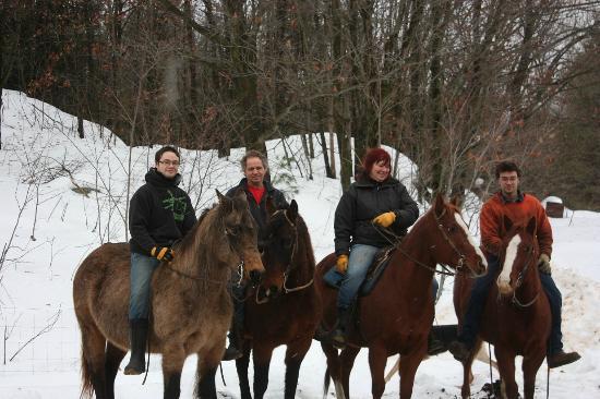 Papineauville, Canada: équitation d'hiver