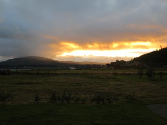 Isle of Raasay, UK: Evening view from the B N B