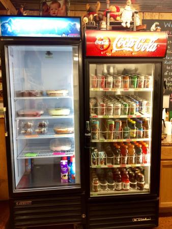 Heidi's Ugly Cakes: Drink cooler with a ton of choices and Heidi's homemade cake selection ...oh my.