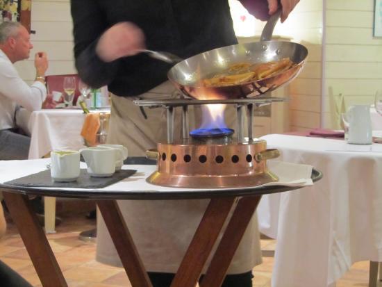 La Table de La Désirade : crêpe suzette