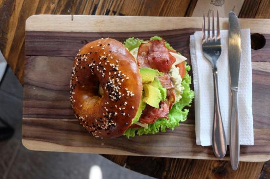 the Bread Basket: BLT bagels with extra avocado