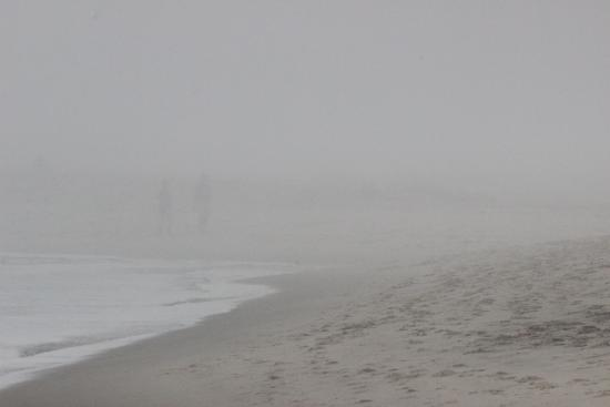 Chatham Lighthouse: beach in the fog
