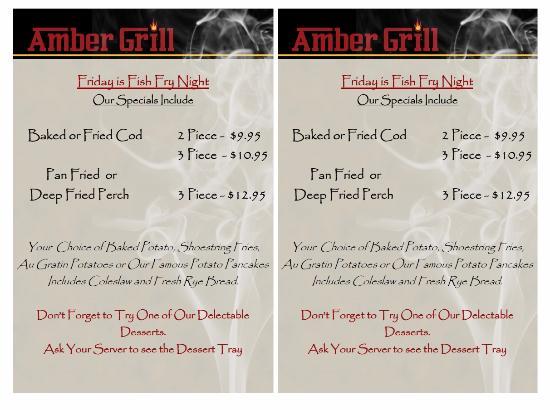 Amber Grill: Friday Night Fish Specials