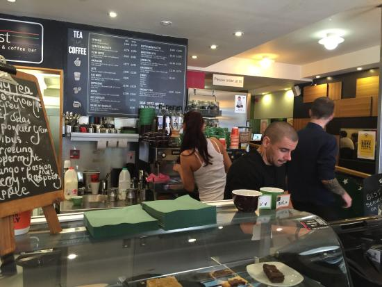 Zest: Busy and competent barista and staff
