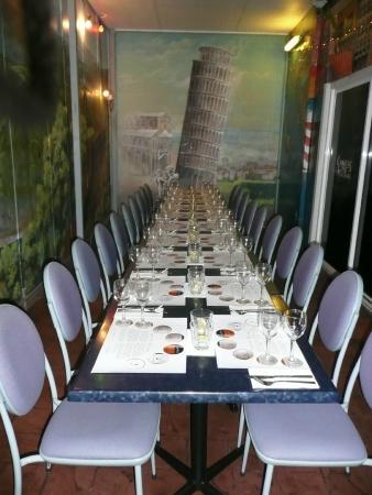 Sorbello's Italian Restaurant: Wine Dinner seating