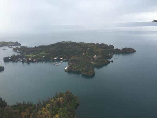 Stillpoint Lodge : Halibut Cove from the air