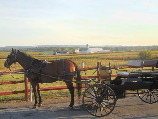 Gordonville, PA: Fishers Amish Restaurant parking lot