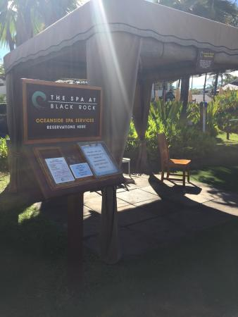 The Spa at Black Rock : Cabana for outside services