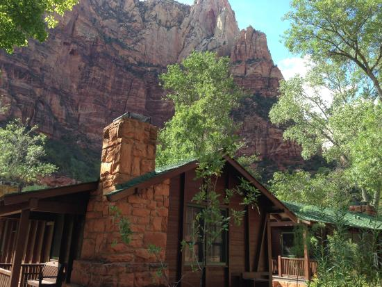 One of the cabins picture of zion lodge zion national for Cabin zion national park