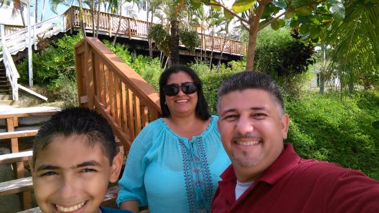 Bay Islands, Honduras: familia feliz