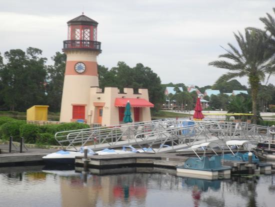 Lighthouse Boat Rental Picture Of Disney S Caribbean Beach Resort