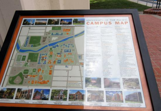 Uop Campus Map Campus Map, University of the Pacific, Stockton, Ca   Picture of